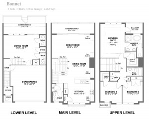 Bonnett Townhouse Floorplan