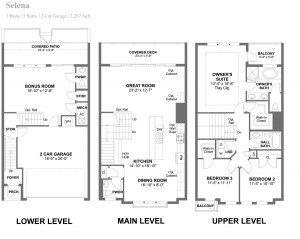Selena Townhouse Floorplan