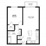 Metropolitan Chardonnay 1 Bedroom Apartment