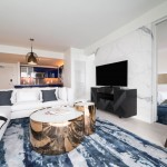 Living Room Rendering - W Condo Fort Lauderdale