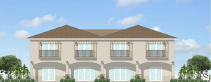Exterior of Wilton Manors Canal front Town Home