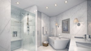 Sabbia Condo Bathroom Rendering