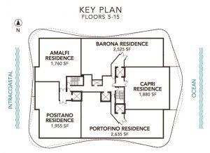 Sabbia Beach Floor Key Plan