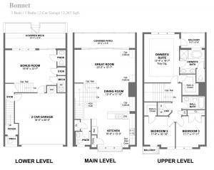 Bonnett Townhouse Floorplan
