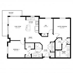 Metropolitan Zinfandel 3 Bedroom Apartment