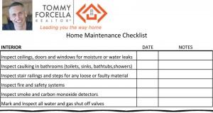 Checklist for Home Maintenance