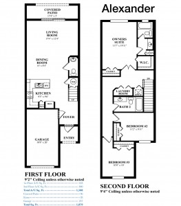 Eastside Village - Alexander Floorplan