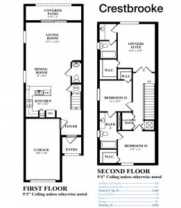 Eastside Village - Crestbrooke Floorplan