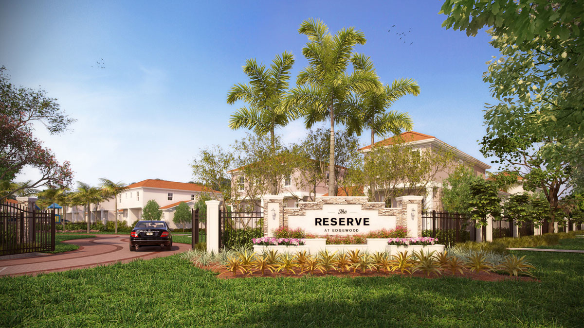 Reserve at Edgewater Townhouses - Entrance