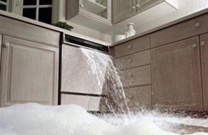 Dishwasher causing water damage