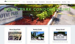Royal Park Condos Web Site Example