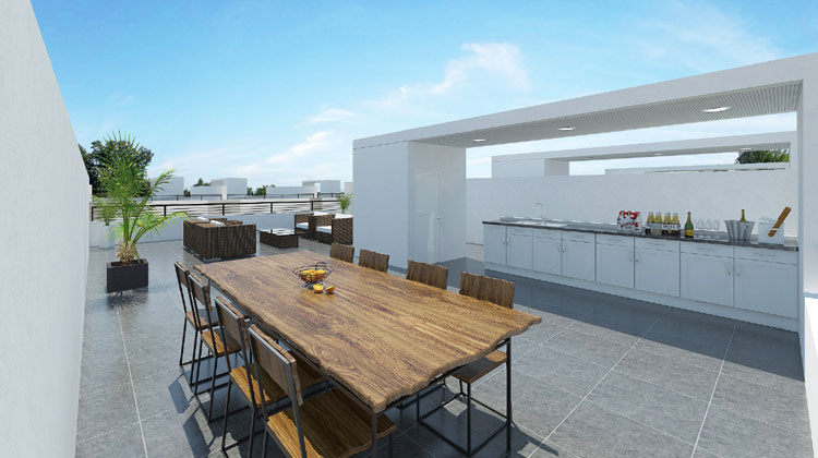 Oakland Terrace Rooftop Rendering