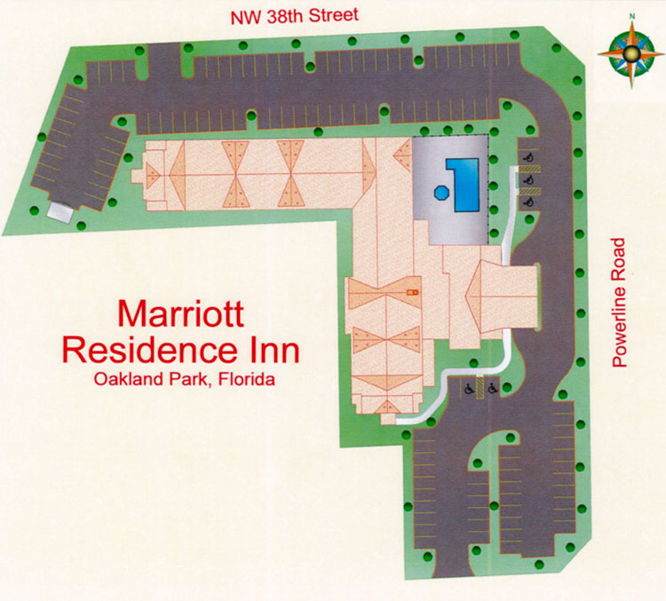 Residence Inn Park Lane West Site Plan