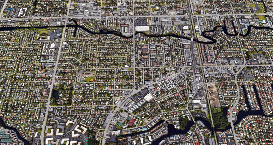 Neighborhood Aerial of Wilton Manors