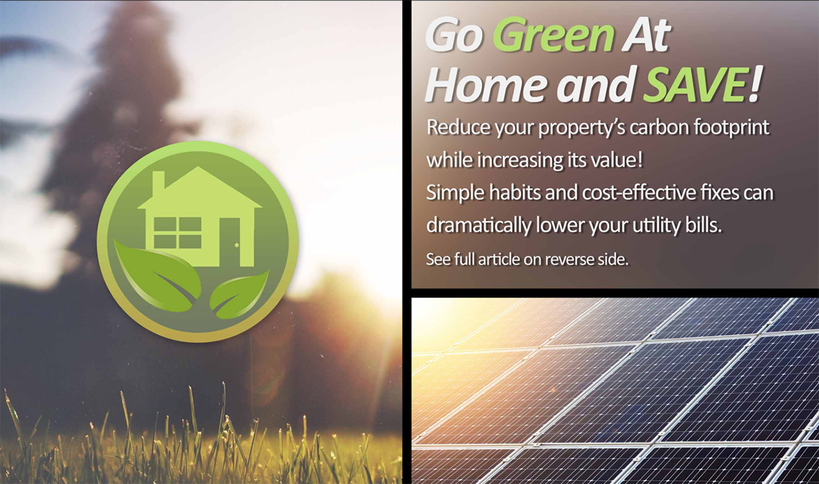 Going Green - Environmentally Friendly Homes