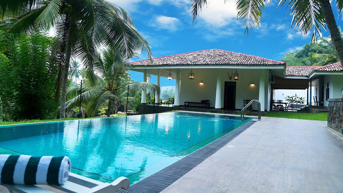 Swimming Pool with Outdoor Living area